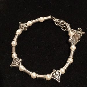 Brighton Hearts and Pearls bracelet